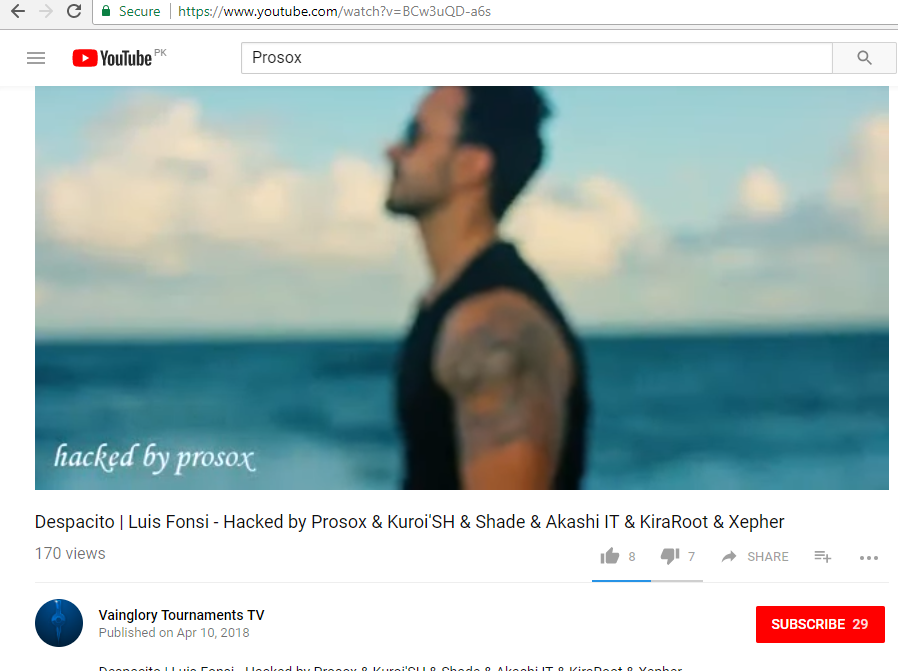 YouTube Hacked, VEVO Celebrity Channels Compromised