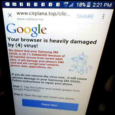 browser-damaged-by-four-virus